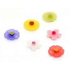 Floral Drink Marker Set of 6