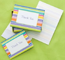 Thank You Notes Striped