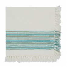 Fringed Napkin Teal Blue
