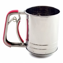 Flour Sifter Stainless Steel 3 Cup