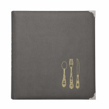 Gray 8.5x11 Recipe Binder