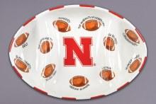 Husker Football Platter
