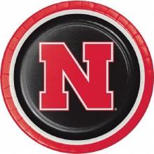 """University of Nebraska Cornhuskers 8.75"""" Dinner Plate 8 Ct."""