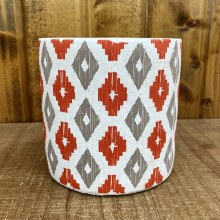 Nomad Round Pot Coral & Grey