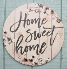 Home Sweet Home Cotton Round