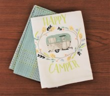 Dish Towel S/2 Happy Camper
