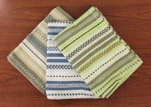 Artisan Stripe Dish Towel S/3 Gray/Natural