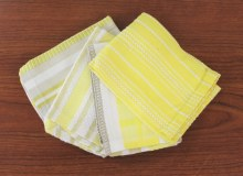 Basic Dish Cloth S/4 Yellow