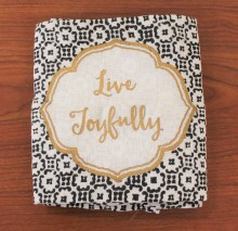 Henna Floursack Dish Towel Live Joyfully