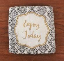 Henna Flour Sack Dish Towel Enjoy Today