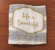 Henna Floursack Dish Towel Life Is Beautiful