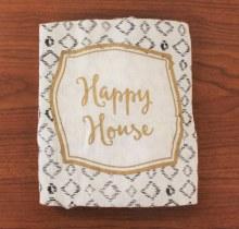 Henna Floursack Dish Towel Happy House