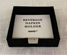 Beverage Napkin Caddy Suede Black