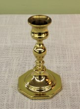 Brass Octogon Base Candlestick 5x3