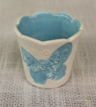 Butterfly Votive Blue