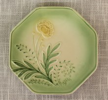 Bloom Dessert Plate Green
