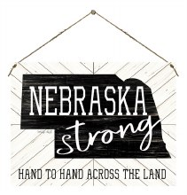 Nebraska Strong Door Hanger Black