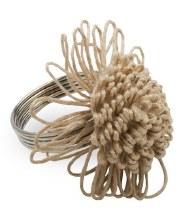 Jute Flower Napkin Ring