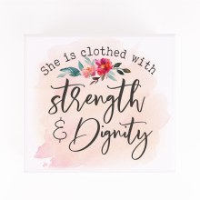 She Is Strength Jewelry Box