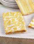 Komorebi Floral Napkin Yellow