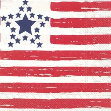 Luncheon Napkin Distressed Flag