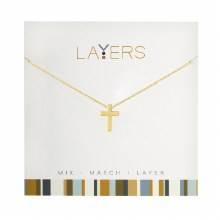 Layers Necklace Gold Cross