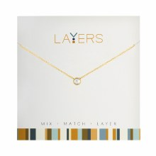 Layers Necklace Gold Single Crystal