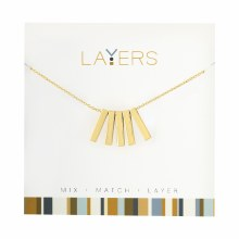Layers Necklace Gold 5 Bar