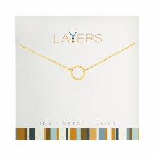 Layers Necklace Gold Open Circle