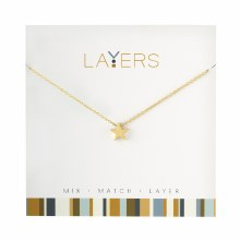 Layers Necklace Gold Star