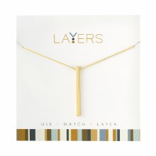 Layers Necklace Gold Single Bar