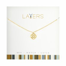 Layers Necklace Gold Celtic Knot