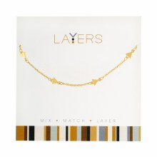 Layers Necklace Gold Decor Triangle