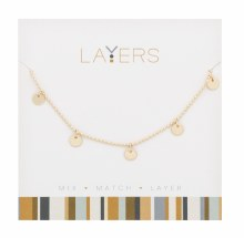 Layers Necklace Gold Flat Disc