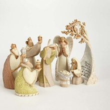 Legacy of Love Birch Tree Nativity Set