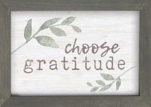 Framed Art Choose Gratitude