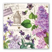 Lilac & Violets Luncheon Napkin