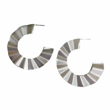 Crinkle Earrings Lenox Silver