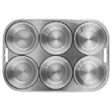 Muffin Pan S/s 6 Cup