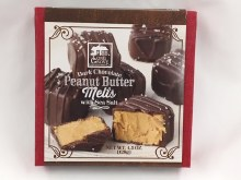 Dark Chocolate Peanut Butter melts with Sea Salt