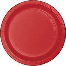 "Round Dinner Paper Plate 9"" Classic Red"