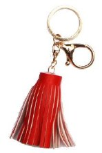 Red Tassel Keychain with Snaphook