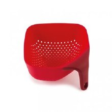 Square Colander Red