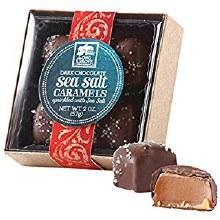 Dark Chocolate Sea Salt Caramels 4 Pack