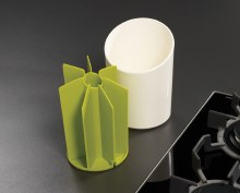 Segment Utensil Pot Green