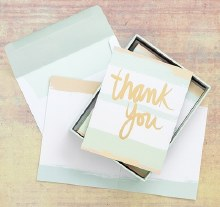 Thank You Notes Gold Foiled