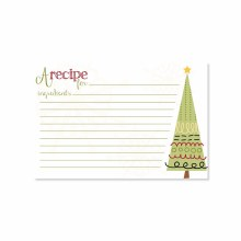 Sugar Cookie Tree Recipe Cards