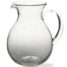 Bubble Glass Pitcher Clear