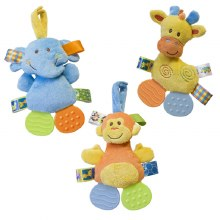 Taggies Crinkle Zoo Teethers Assorted