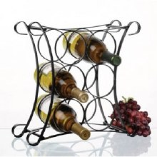 Metalla Wave Wine Rack 6 Bottle